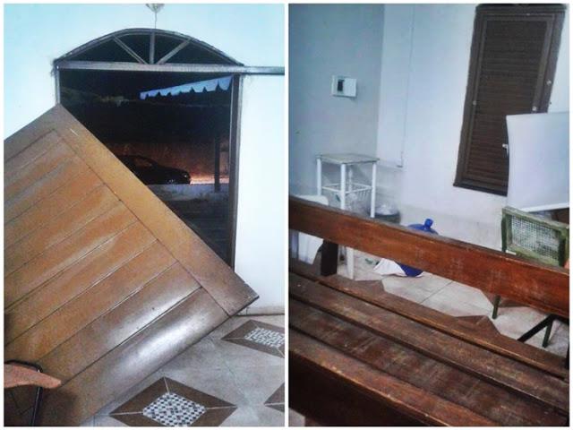 Criminosos arrombam e furtam objetos dentro de igreja no Piauí
