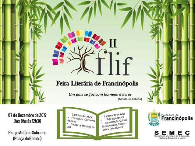 Prefeitura sediará a II Edição da Feira Literária de Francinópolis
