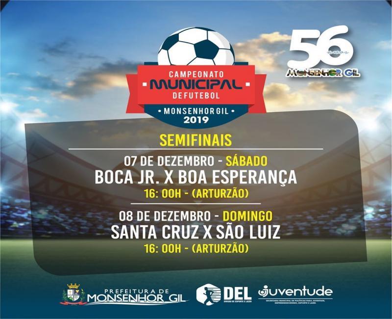 Monsenhor Gil | Prefeitura divulga partidas do campeonato municipal