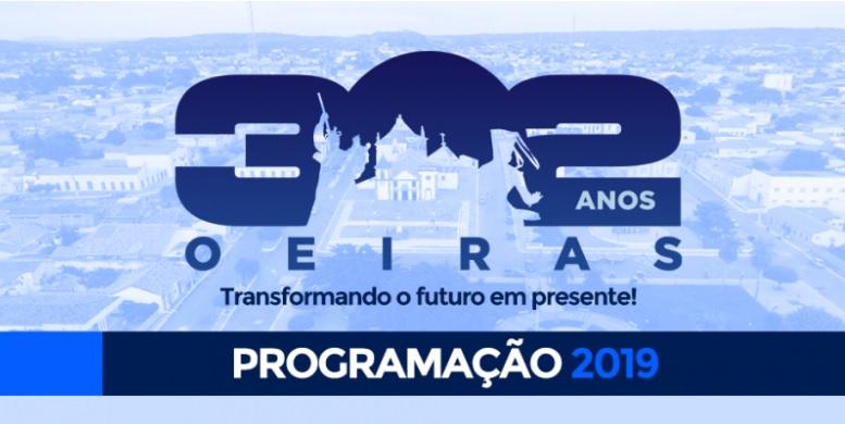 Oeiras completa 302 anos e prefeitura apresenta programação especial