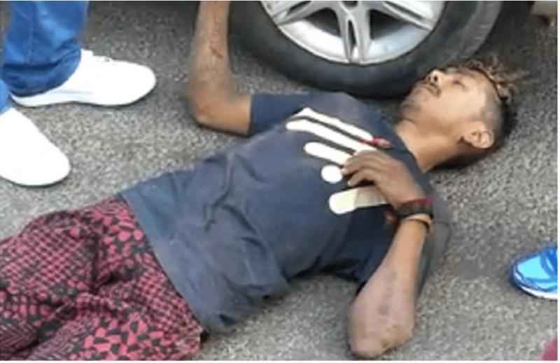Após se envolver em acidente,motociclista fica ferido em José de Freitas.