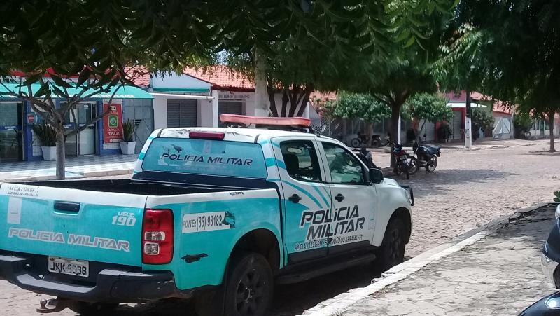 Viatura do GPM de São João do Arraial (Foto:Leônidas Silva)