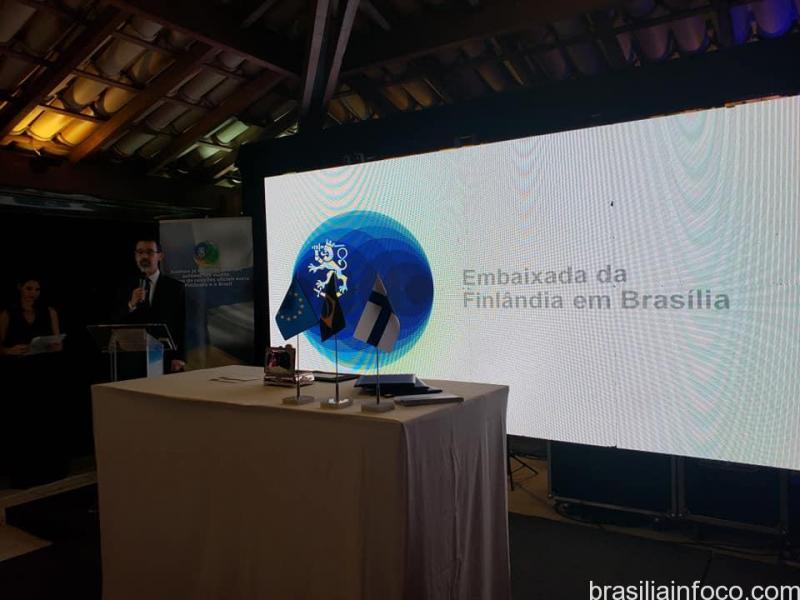 O evento foi marcado pelo lançamento de um selo em alusão aos 100 anos de relações diplomáticas com o Brasil