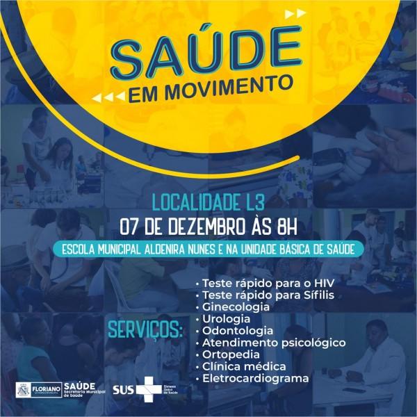 Saúde em Movimento chegará ao L3 com diversos serviços