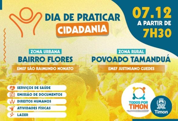 Todos por Timon beneficiará neste sábado (07) bairro Flores e Pov. Tamanduá