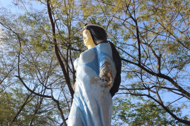 Estátua de Iemanjá é depredada em Teresina