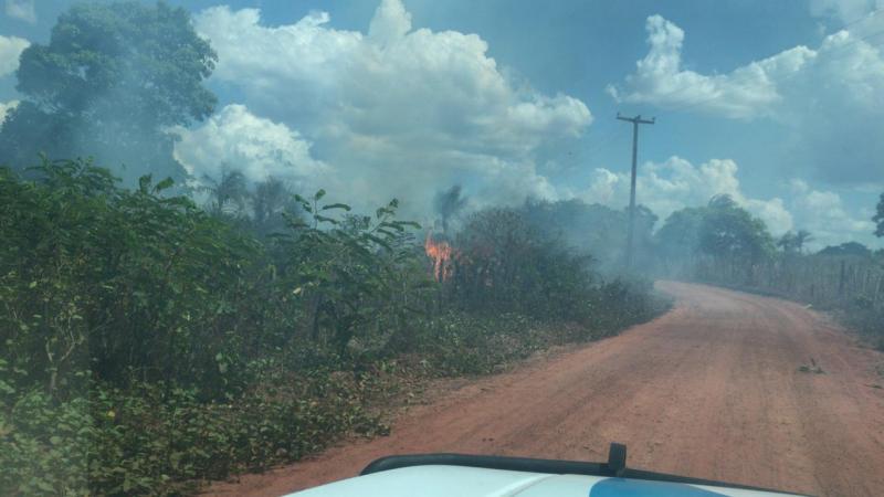 Queima de roça causa incêndio Florestal em Campo Largo do Piauí-PI