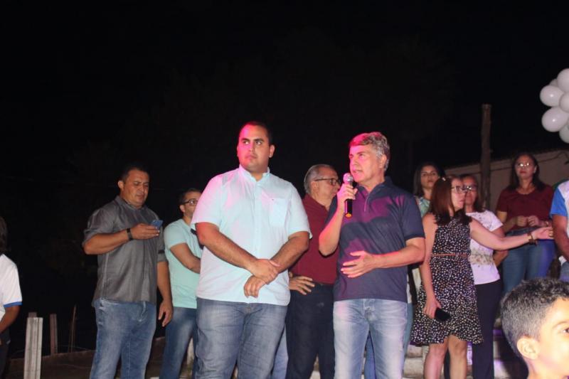 Prefeito João Luiz recebe deputado Georgiano Neto em evento da cidade