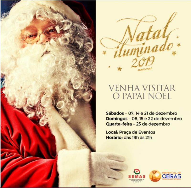 Natal Iluminado: SEMAS lança calendário de visitas ao Papai Noel em Oeiras