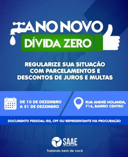 Oeiras | SAAE inicia campanha de renegociação de dívidas na terça (10/12)