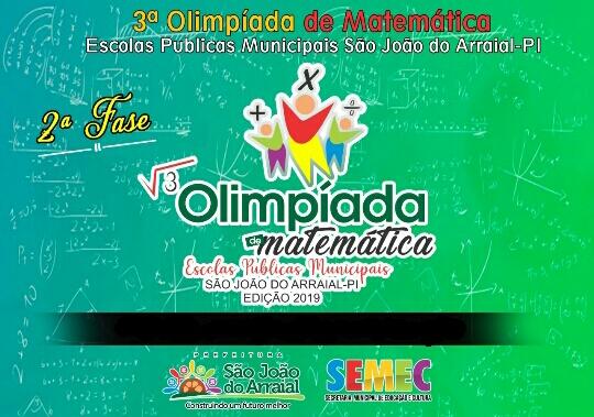 Resultado da Olimpíada Municipal de matemática de São João do Arraial