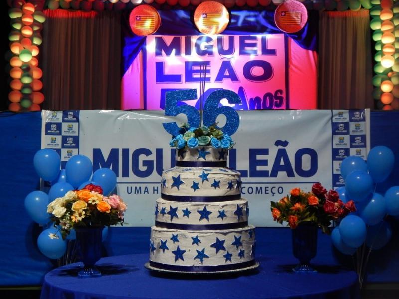 Miguel Leão comemora aniversário de 56 anos de emancipação politica
