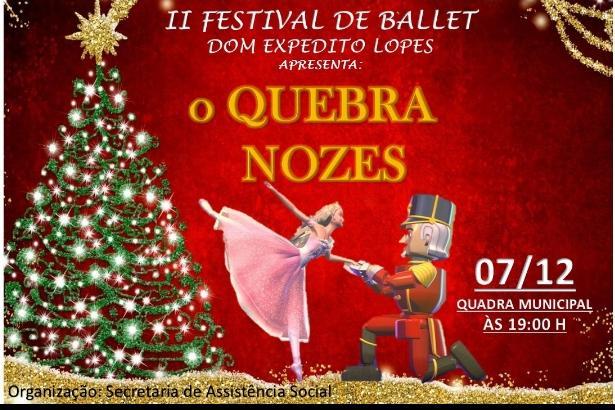Prefeitura de Dom Expedito Lopes realiza o 2° Festival de Ballet