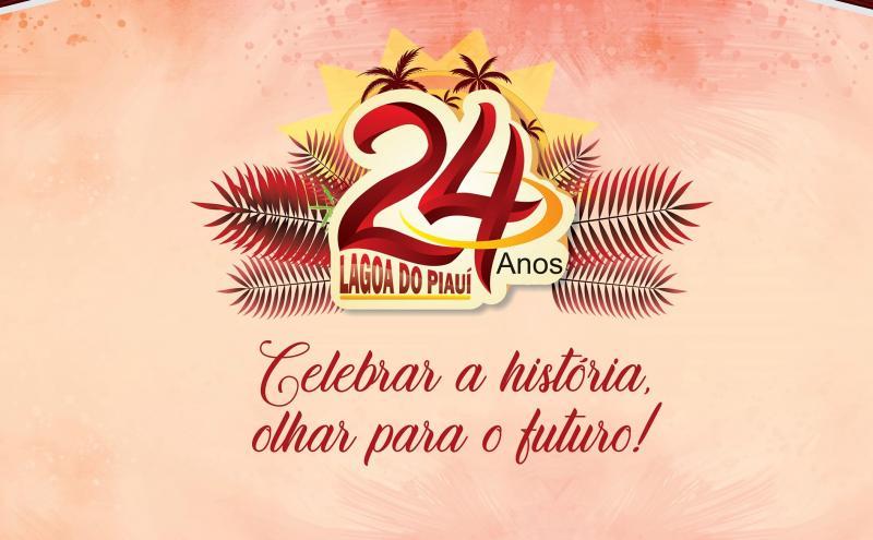Confira a divulgação de programação de festa dos 24 anos de Lagoa do Piauí