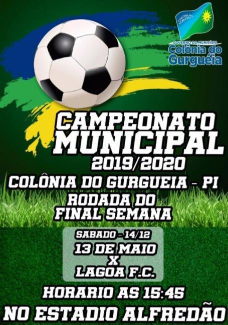 Prefeitura de Colônia do Gurguéia divulga partida do Campeonato Municipal