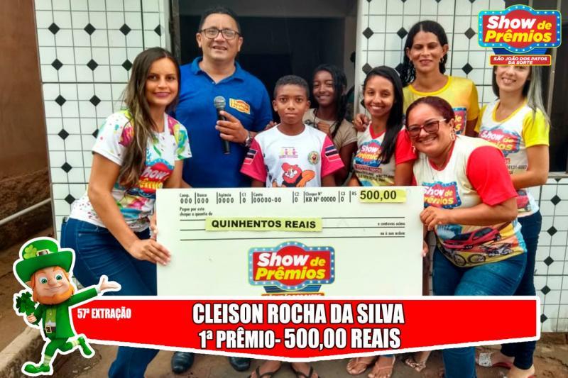 Ganhadores da 57º extração do show de prêmios São João dos Patos da sorte