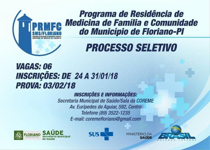 Programa de Residência de Medicina de Família e Comunidade do Município de Floriano - PI