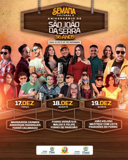 Prefeitura confirma bandas para agitar Semana Cultural
