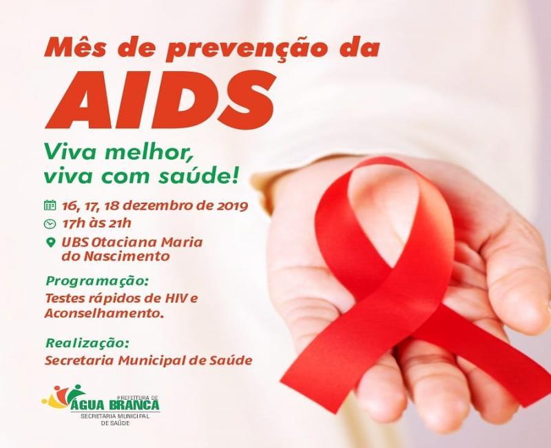 Saúde de Água Branca realizará testes rápidos de HIV e aconselhamento