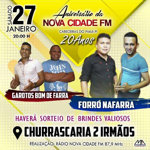 Rádio Nova Cidade FM prepara grande festa para comemorar aniversário de 20 anos