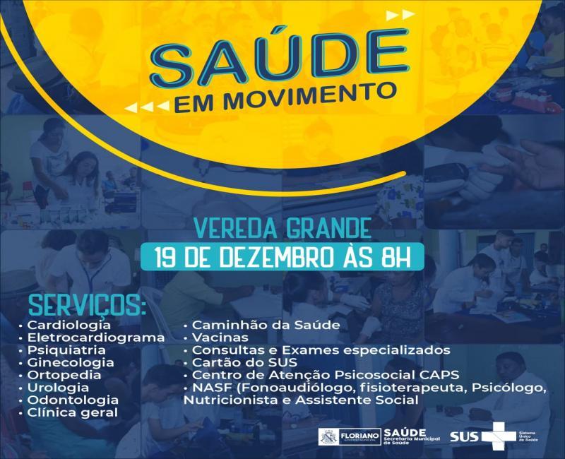 Saúde em Movimento na localidade Vereda será o último de 2019