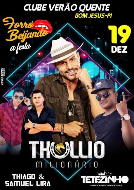 Thullio Milionário se apresentará em Bom Jesus-PI nessa quinta-feira 19