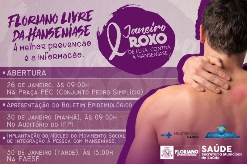 Janeiro Roxo: Saúde pretende alertar a população para hanseníase em Floriano