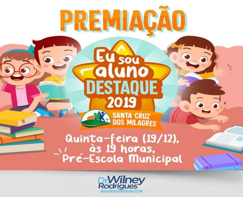 Santa Cruz dos Milagres | Convite para solenidade dos alunos destaque 2019