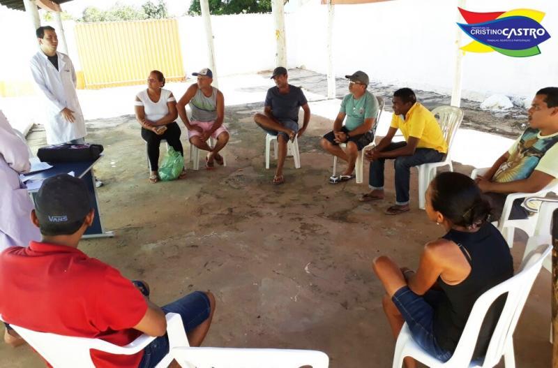 Equipe de Saúde de Cristino Castro realizou uma palestra para o Grupo de Fumantes
