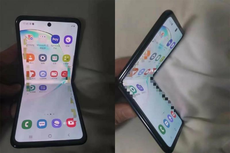 Samsung copia dobrável da Motorola e foto vaza na web