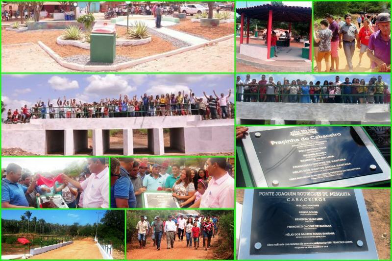 Inauguradas ponte e praça na localidade Cabaceiro em São João do Arraial