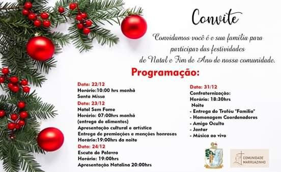 Comunidade Marruazinho realiza programação de Natal e fim de ano