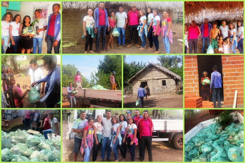 Comunidade Marruazinho distribuiu alimentos para as famílias da Comunidade