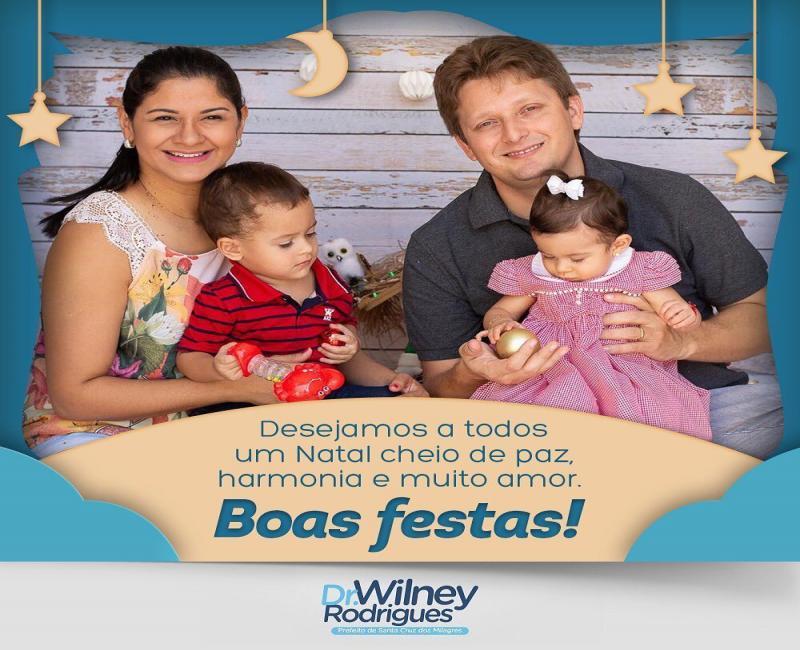 Santa Cruz dos Milagres | Prefeito divulga mensagem de Boas Festas