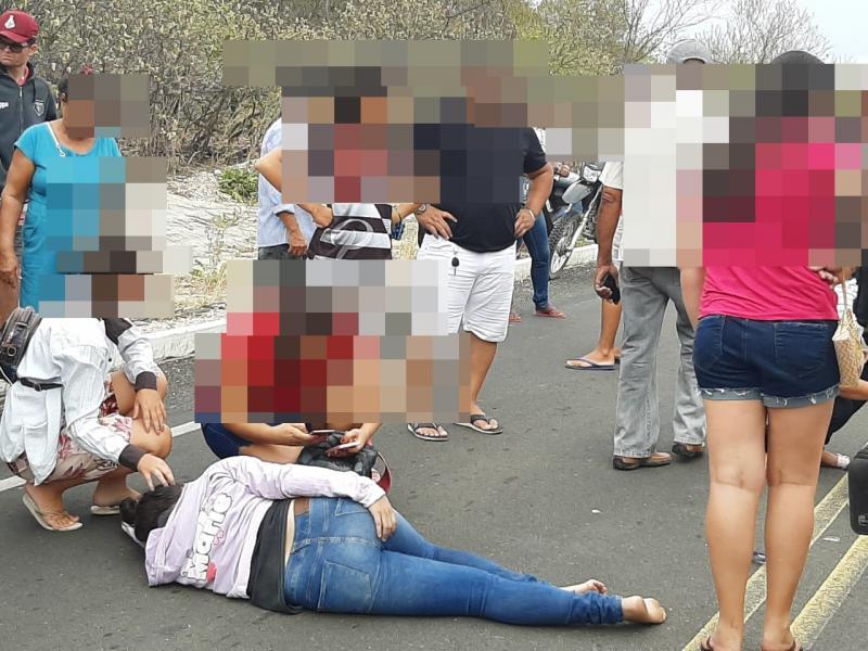Acidente entre motocicletas deixa duas mulheres feridas na PI 461