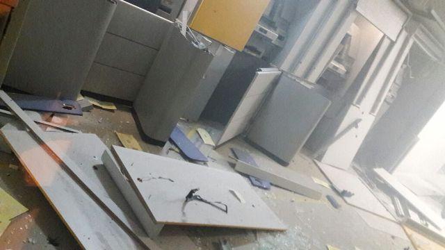 Bandidos explodem agência do Banco do Brasil em Pio IX