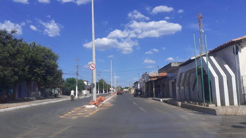 Agricolândia | Prefeitura realiza obras de iluminação de Led na cidade