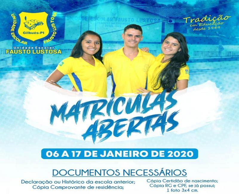 Atenção! Matrículas abertas na rede estadual de ensino em Gilbués-PI