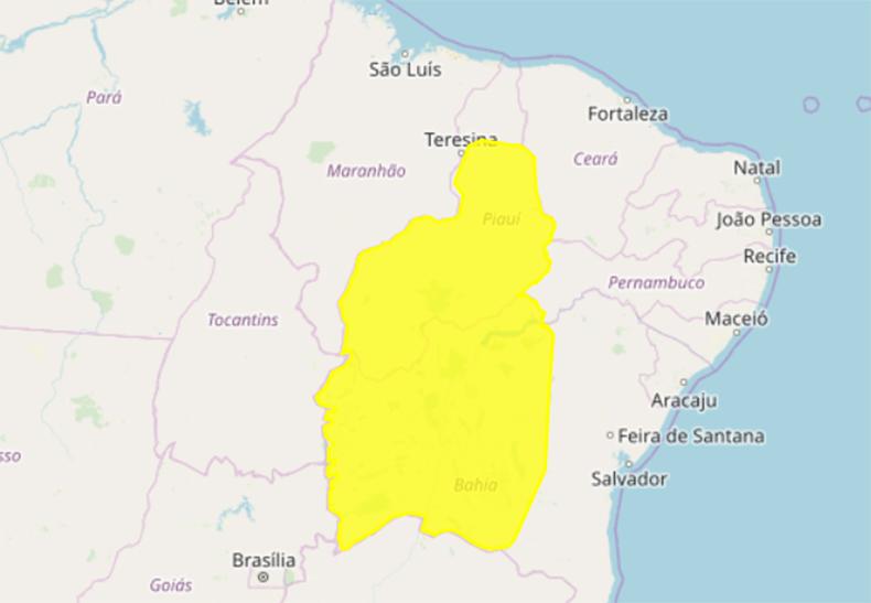 Chuvas intensas em 182 cidades do Piauí, diz Inmet