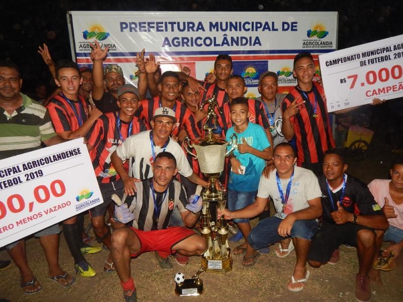 Vila Nova é campeã do Campeonato Municipal de Futebol 2019 em Agricolândia