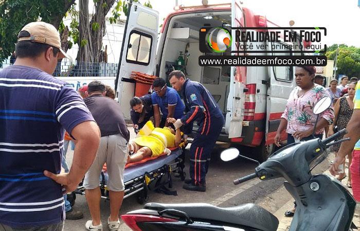 Mulher fica gravemente ferida após ser atropelada por moto no Piauí
