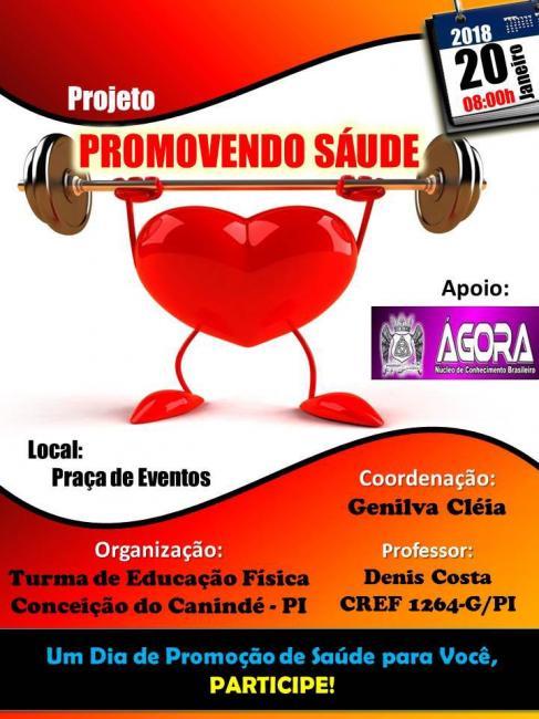 Turma de educação física de Conceição do Canindé apresentam projeto promovendo saúde