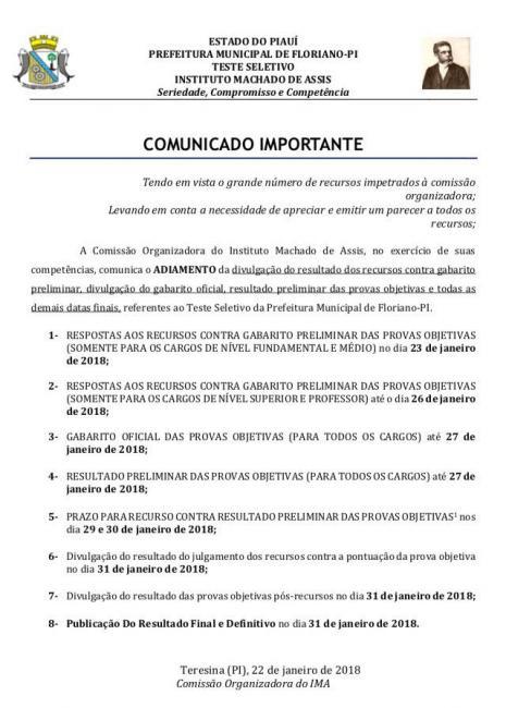 Prefeitura divulga alterações no cronograma do teste seletivo