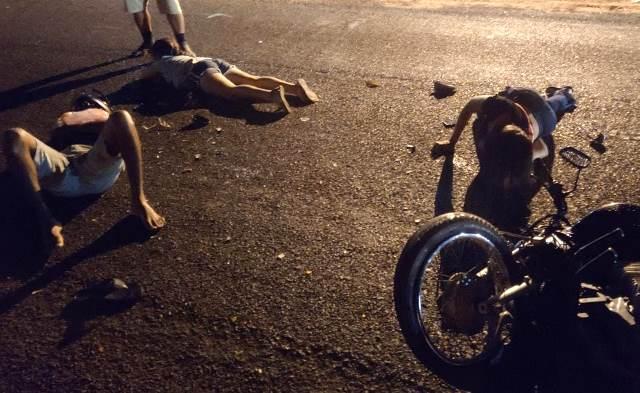 Criança de 10 anos sofre grave acidente envolvendo mais duas pessoas.