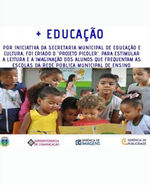 Corrente | Secretaria municipal de Educação cria 'Projeto Picoler'