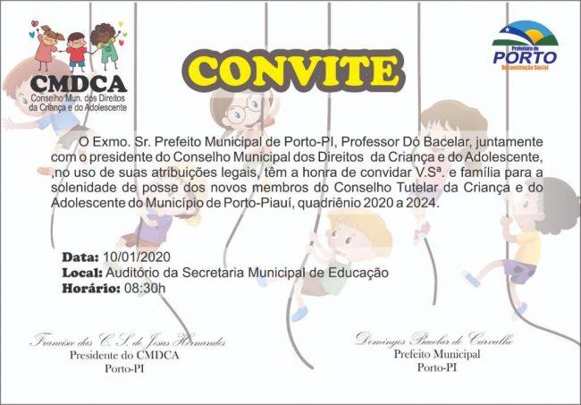 Prefeito Dó Bacelar vai empossar novos Conselheiros Tutelares nesta sexta