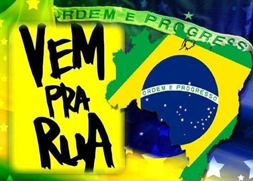 Vem pra Rua convoca atos em todo o Brasil contra à corrupção e privilégios