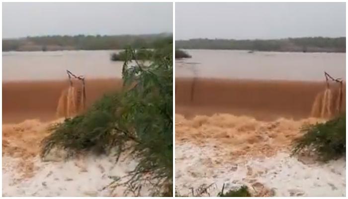 Barragem no Piauí transborda após forte chuva; vídeo