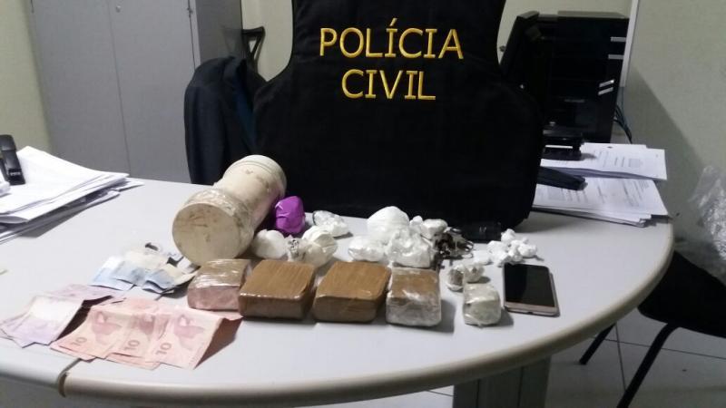 Garçom é preso por tráfico de drogas e posse ilegal de arma no Piauí