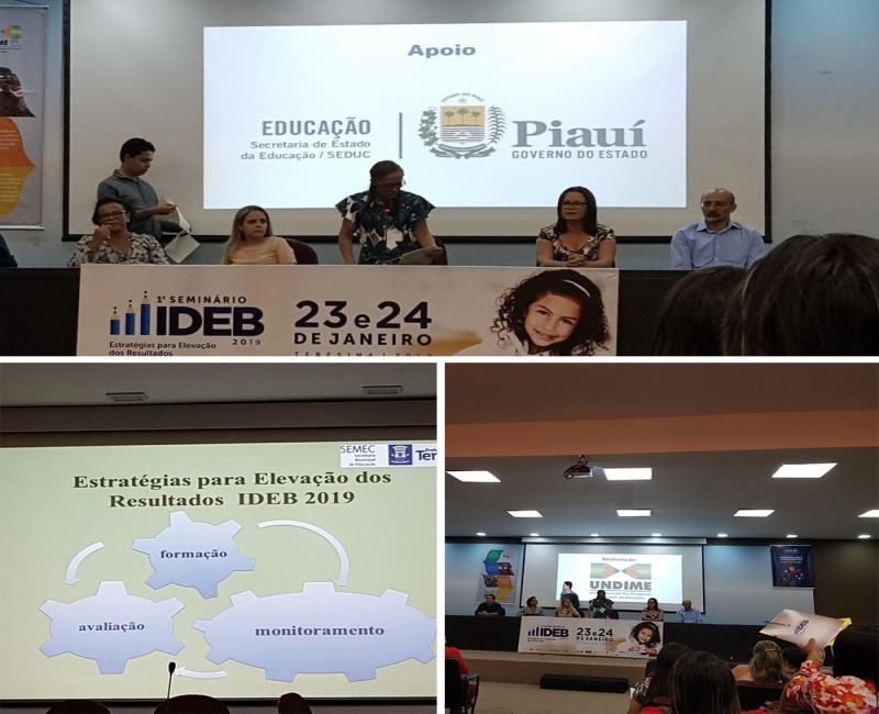 Secretária municipal de Educação de Uruçuí participa de seminário em Teresina